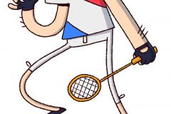 Badminton character design