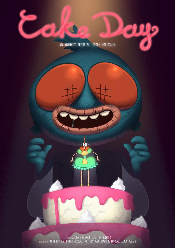 Cake Day film poster by Jeroen Koelewijn